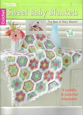 SWEET BABY BLANKETS  - Crochet Book   ~  Leisure Arts ~  MARY MAXIM ~ NEW