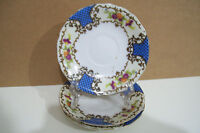 """Set of 3 Hand Painted 4 1/2"""" Saucer Plates  Made in Japan"""