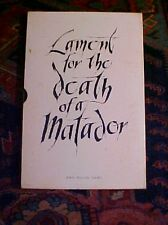 Lament For the Death of a Matador-incl. 4 paintings by John Fulton Short