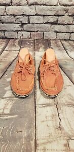 Sperry Top Sider Men's Size 7 M Coral Canvas Boat Casual Lace Up Shoes STS10729