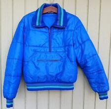 Vintage 70's 80's Jc Penney Insulated Pullover Jacket Ski Puffer Blue Men Women