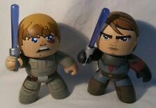 "Star Wars Luke Skywalker + Luke Skywalker Anakin Mighty Muggs 6"" Vinyl Figures"