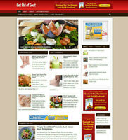 GOUT ADVICE AFFILIATE WEBSITE WITH FREE DOMAIN + HOSTING