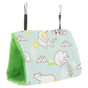 Happy Hut Pet Cozzy Cage Tent Bunk Hammock Bird Sleeping Bed Fun Toy HOT