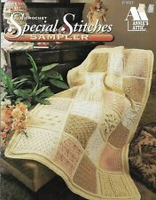 USED SPECIAL STITCHES SAMPLER AFGHAN ANNIE'S ATTIC CROCHET PATTERN BOOK