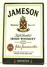 New Jameson Irish Whiskey Tin Metal Poster Sign Bar Pub Man Cave Vintage Look