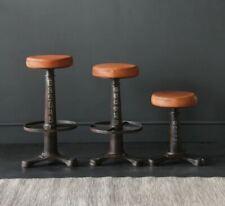 Industrial Singer Bar Stool Kitchen Pub stools cast iron base 75cm, 67cm 48cm
