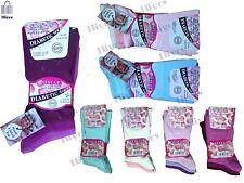 3 Pairs Ladies Black Stay-up Diabetic Non Elastic 99 Cotton Socks UK Size 4-8