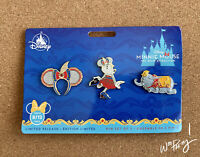 2020 Disney Minnie Mouse Main Attraction Limited Dumbo Flying Elephant Pin Set