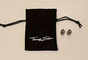 Reduced to Clear Thomas Sabo Sterling Silver Green CZ Turtle Stud Earrings