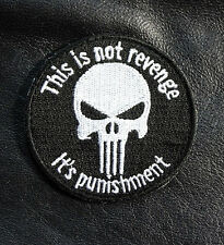 PUNISHER INFIDEL THIS IS NOT REVENGE 2.5 INCH  TACTICAL COMBAT HOOK PATCH