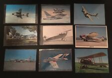 Vintage Lot of 9 Army War Aircraft Post Cards Air Force WWI WWII RARE