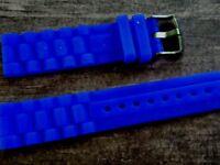 WATCH BAND BRACELET MONTRE  PVC  //////// *bleu**  ****////*20MM *   REF GM66