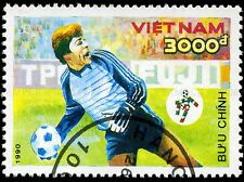VIETNAM VINTAGE POSTAGE STAMP FOOTBALL SOCCER PHOTO ART PRINT POSTER BMP1695A