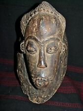 FINE OLDER BAULE MASK- IVORY COAST