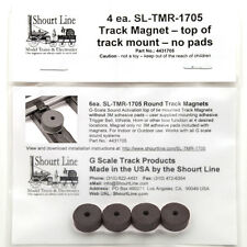 "G SCALE SOUND SYSTEM TRACK SENSOR MAGNETS 4 Each 1/2"" ROUND = LGB 1705  for LGB"