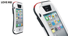 Love Mei Metal Case for iPhone 4 4s Waterproof Stable Protection White