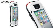 Love Mei Metallgehäuse für iPhone 4 4S Wasserdicht Stabiles Schutz weiß