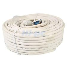New 100'FT 30M VGA Male to Male M/M 3+4 PS2 Extension Cable for KVM Switch White