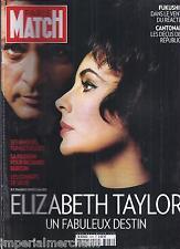 PARIS MATCH MAGAZINE Elizabeth Taylor Fukushima Laurent Delahousse Ines