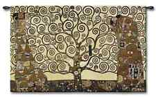 EMBRACE FOR LOVE GOLDEN TREE ROMANCE ABSTRACT ART TAPESTRY WALL HANGING 52x34