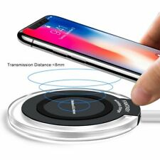Wireless Charger For iPhone 8 Samsung Portable Fast Qi Charging USB Charge Pad