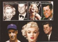 2017 Kennedy, Monroe, DiMaggio - 2 Stamp Souvenir Sheet - 3H-1039