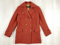 Women Tweed Jacket Coat Double Breasted ing Loro Piana herringbone Rain System M