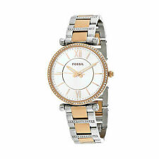 Fossil ES4342 Carlie Three-hand Two-tone Stainless Steel 35mm Ladies Watch