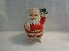Vintage Santa Claus Ceramic Bank - SPAGHETTI TRIM
