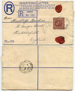 GOLD COAST 1920 REGISTERED STATIONERY ADDAH BRITISH TOGO + SEALS