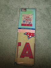 """New """"Star Spangled Welcome"""" Flip-It! Flag Large Porch or House Flag 28"""" x 40"""""""
