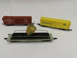 3 AF CARS #42597 C&NW RY. SEARCHLIGHT CAR EX, #639 AF BOX CAR & #642 SB BOX  EX.