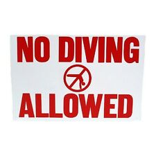 Pentair Pool Products R231200 Rainbow No Diving Allowed Sign 18 New