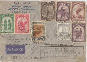 1941 CONGO BELGIUM MULTIFRANCHISING  BRITISH OVERSEAS AIRWAYS CORPORATION TO USA