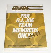 G I JOE Catalog Brochure Order Form  1984  For Team Members Only!   Flag  Points
