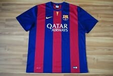 BARCELONA FOOTBALL SHIRT JERSEY CAMISETA 2014-2015 HOME OFFICIAL REPLICA SZ XL