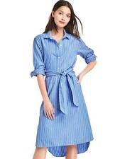 Gap Women's Spring 2017 Blue Stripe Midi Shirt Dress Size XS X-Small NWT