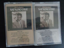 The Legendary NAT KING COLE Tape 1 & 2 Cassette Pair SEALED New 1998 Free Ship