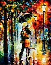 Modern Abstract Art Oil Painting On canvas Wall Deco,Rain Lovers(No Framed)