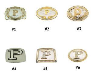 Initial P Belt Buckle Letter Alphabet P Cowboy Multiple Style cowgirl Cowboy Men