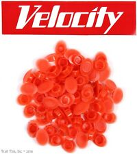 Velocity Veloplugs Bike Rim Hole Velo Plugs / Covers for 8mm Holes 72-Count RED