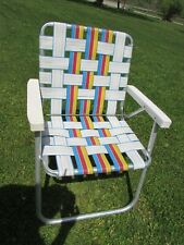 Vintage Aluminum Folding Lawn / Camping Chair White