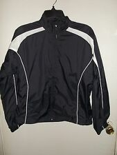 Women's - Russell Athletic - Black w/ White Trim Jacket, Coat - Size S (Small)
