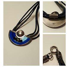 RARE Vintage Denmark EMBLA Enamel Sterling Silver Necklace