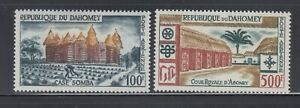 Dahomey 1960 Architecture Airs Sc C14-C15  Mint very lightly hinged