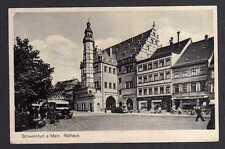 111197 AK Schweinfurt am Main Rathaus 1944 Buchhandlung Ruckert Landpoststempel