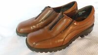 Women's G Wiz Brown Zip Shoes Leather Uppers SZ 9 M Walking