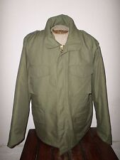MILITARY STYLE OD GREEN M-65 ARMY COLD WEATHER FIELD JACKET WITH LINER X- LARGE