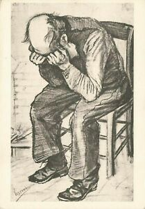 Vintage Sketch Art Postcard, New Years Eve, The Hague, Vincent Van Gogh OI6